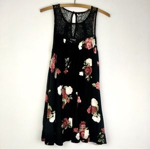 Others Follow Black Floral Dress